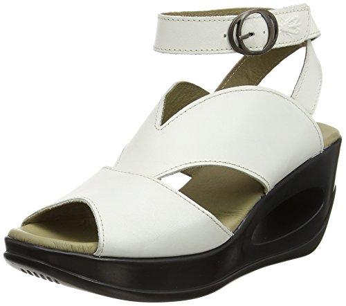 Womens 006 bianco London cinturino White Sandali Hibo869 alla caviglia Off Fly con OwfgqPd0