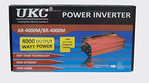 4000W Inversor de corriente de 12v a 220v Inversor 4000w 12v 220v del coche con el cable de la batería para el vehículo RV: Amazon.es: Electrónica