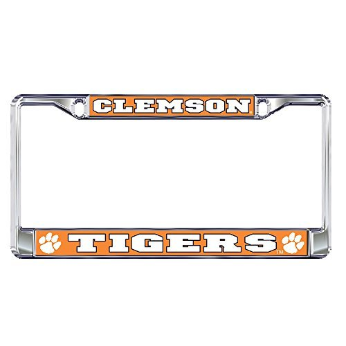 Clemson University Tigers Silver Metal License Plate ()