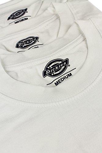 Dickies 06210091Herren Short Sleeve Crew Neck T Shirt Pack, weiß