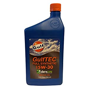 Gulf Oil LP Gulftec Dexos1 Synthetic 5W-30 Motor Oil, Case of 12