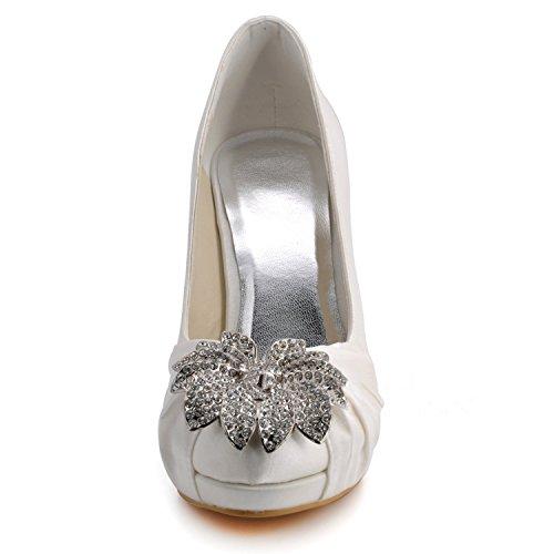 femme Heel Minitoo pour Escarpins 10cm Ivory qp0Y8g0
