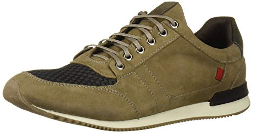 Marc Joseph New York Men's Genuine Leather Made in Brazil Luxury Fashion Trainer Sneaker, Grey Nubuck, 7 M US