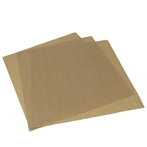 TELMOO Natural Deli Wax Coated Food Grade Brown Tissue Kraft Paper Sheets Pack of 100 | Microwaveable 12x12 Inches Grease Resistant Square Food Liner | (Wax Paper Sheets)