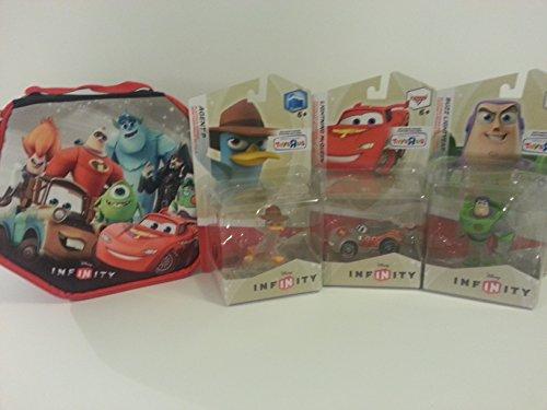 Bundle Disney Infinity Start 'N' Go Case w/Exclusive Buzz Lightyear, Agent P, and Lightning McQueen
