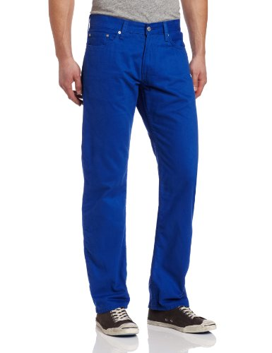 Levi's Men's 514 Straight Fit Soft Washed Twill Fashion Pant, Electric Blue, 32x30