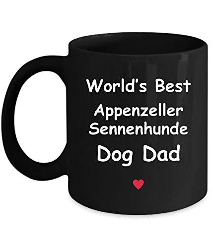 Gift For Appenzeller Sennenhunde Dog Dad - World's Best - Fun Novelty Gift Idea Coffee Tea Cup Funny Presents Birthday Christmas Anniversary Thank You Appreciation 11oz Black Mug 1