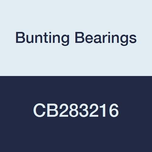 Bunting Bearings CB283216 Sleeve (Plain) Bearings, Cast Bronze C93200 (SAE 660), 1-3/4