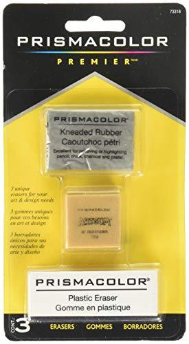 Kneaded Art Eraser - Prismacolor Premier Kneaded, ArtGum and Plastic Erasers, 3 Pack