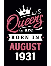 90th Birthday Gifts for Women: Queens Are Born in July 1931: Funny Notebook for Women's, 90th Birthday Notebook for Women, Gift for Women Birthday Unique, Friendship Gifts for Women Friends Personalized .… Notebook Journals (Notebook a5 Lined)