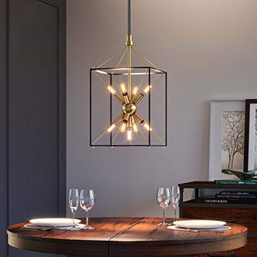 Artika CLY1-C2 Industrial Design Black and Gold Clyde Chandelier