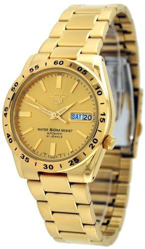- Seiko 5 #SNKE06 Men's 50M Gold Tone Self Winding Autoamtic Watch