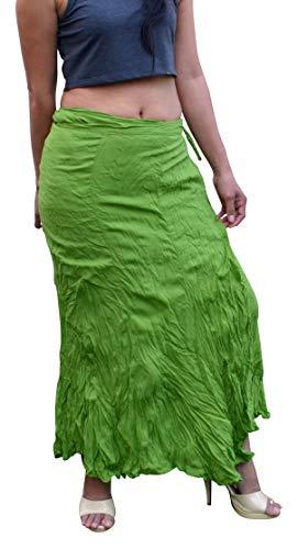 Billy's Thai Shop Cotton Wrap Skirt Hippie Wrap Skirt Boho Skirts for Women (Petite Size - Length 33.8