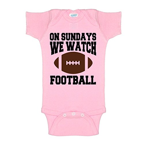 Price comparison product image On Sundays We Watch Football With Daddy One-Piece Baby Onesie Bodysuit