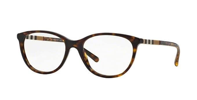 37d8fa31a478 Burberry Eyeglasses BE 2205 3002 Havana 52mm at Amazon Women's ...