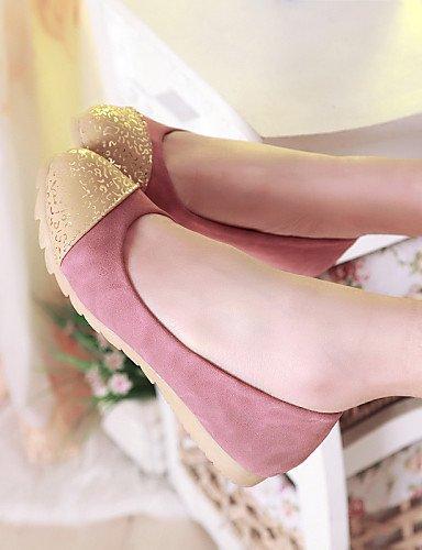Casual De Cn36 beige Redonda Talón Eu36 us6 Mujer caqui Rosa Uk4 Pdx Punta Piel Sintética Zapatos Almond de Flats Plano SHqnxgOEPn