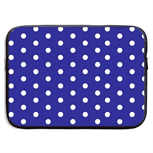 - SWAKOJIJI White Blue Dots Polka Hexagon Navy 13/15 Inch Laptop Sleeve Bag for MacBook Air 11 13 15 Pro 13.3 15.4 Portable Zipper Laptop Bag Tablet Bag,Diving Fabric,Waterproof Black