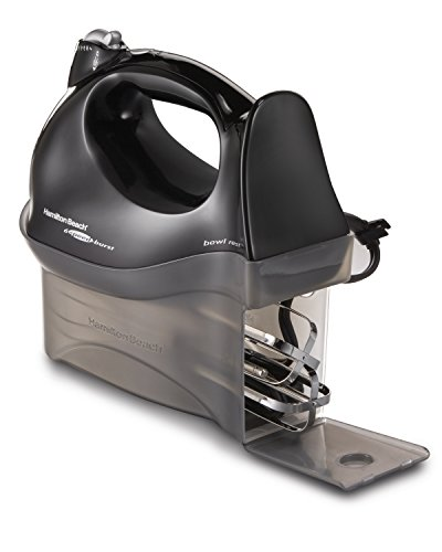 Hamilton Beach 6-Speed Electric Hand Mixer with Snap-On Case, Beaters, Whisk, Black (62692)