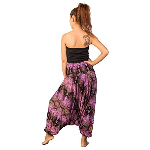 4f21fd50f1e12 free shipping Lofbaz Women's Elephant Floral 2 in 1 Harem Pants ...