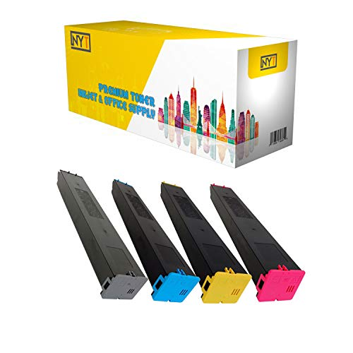 NYT New Compatible 4 Pack MX60NTBA CA MA YA Toner Cartridge For Sharp MX3050 3550 4050 5050 6050 - Black Cyan Magenta Yellow