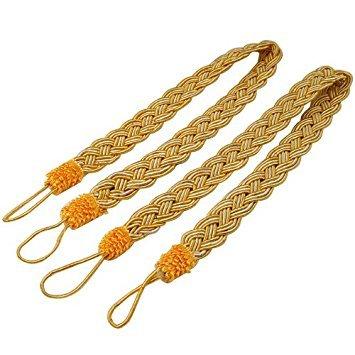 TOOGOO(R) 2 Rope curtain tiebacks - slender slinky rope cord drape hold backs fabric ties