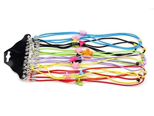 - 12Pcs Adjustable Colorful Eyewear Cord Elastic Eyeglass Chains Neck Rope Sunglasses Retainer Safe Strap Lanyard for Kid Children