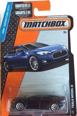 Matchbox, 2016 MBX Adventure City, Tesla Model S [Dark Blue] #24/125 (Tesla Model Car compare prices)