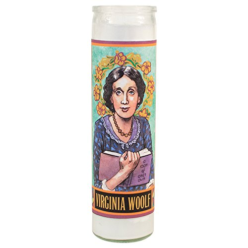 Virginia Woolf Secular Saint Candle - 8.5 Inch Glass Prayer Votive -  The Unemployed Philosophers Guild, 3310