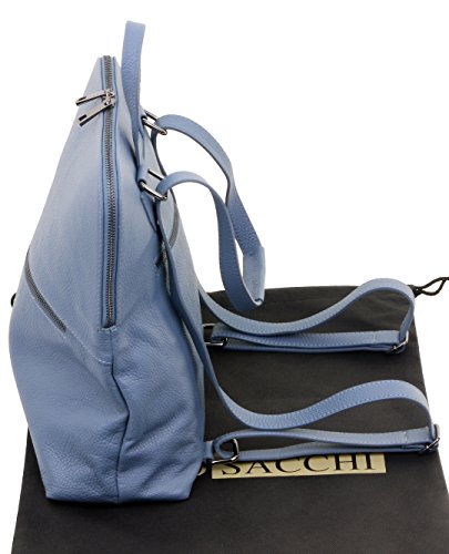 top sacchi® Include bag spalla marca di zaino Blu pelle Primo tessuto borsa Mid maniglia protettiva in di stoccaggio d5zRx8
