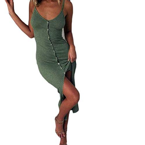 up Lungo Button Cinturino Colore Tagliato Pattern2 Schienale Senza Coolred Puro Abito donne In Con wBpqxI7