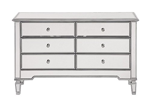 6 drawer accent console table - 9