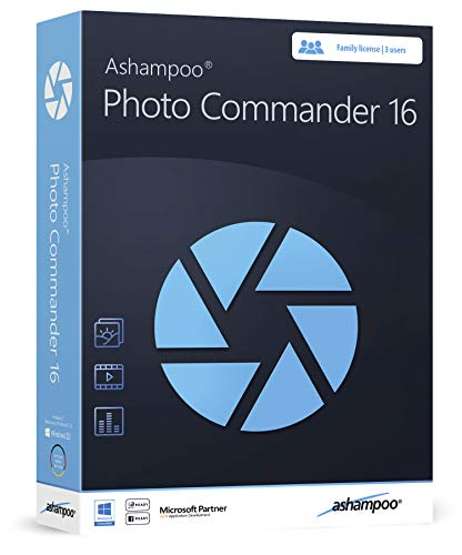 Photo Commander 16 - Photo Editing & Graphic Design Software for Windows 10, 8.1, 7 - 3 USER license