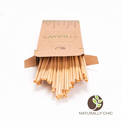 (Naturally Chic Biodegradable Straws | Compostable Plastic-Alternative Plant-Based Products Made from Wheat Hay - Eco Friendly)