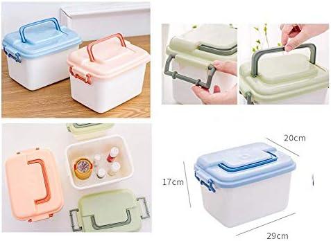 Büro Kunststoff Desktop Aufbewahrungsbox Schubladen Organizer, Orange