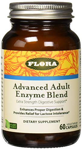 Udo's Advanced Enzyme Digestion Support 60 Capsules - Supplement Digestive Support by Flora
