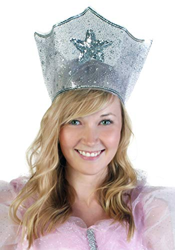 Fun Costumes Adult Good Witch Glinda Sparkle Crown Standard Silver]()