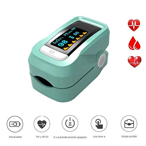 (WanZhuanK Finger Pulse Monitor,All Portable and Heart Rate Monitor Analysis and Measurement of Oxygen Saturation in Blood SpO2,Blue)