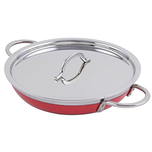 Bon Chef 60306 Stainless Steel/Aluminum Classic Country French Collection Saute Pan/Skillet with (Bon Chef Pan)