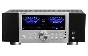 Advance Acoustic MAX 450 (BS) - Amplificador (2 x 120 W, puerto USB), color negro y plateado