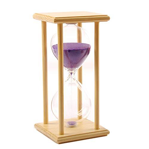 (DRAGON SONIC 45 Minutes Hourglass, Wood Sand Timer, Purple)
