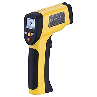 Goodes Non-contact Digital Laser IR Infrared Thermometer Temperature Gun -58℉ to 1202℉(-50℃ to 650℃)with Laser and LCD Backlit for Cooking Automotive Industrial from Goodes