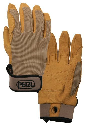 Petzl K52LT Cordex Large Lightweight Glove, Tan (Belay Glove)