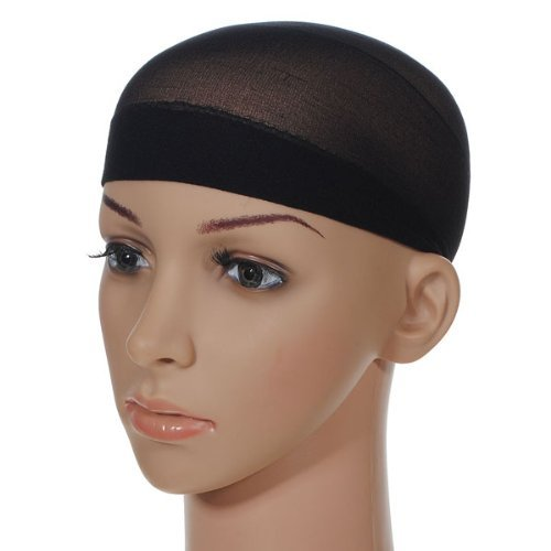 [Heahair® 2pcs Unisex Stocking Wig Nylon Stretch Mesh Skin Color (2 Pack) (Black)] (Cornrow Wigs)
