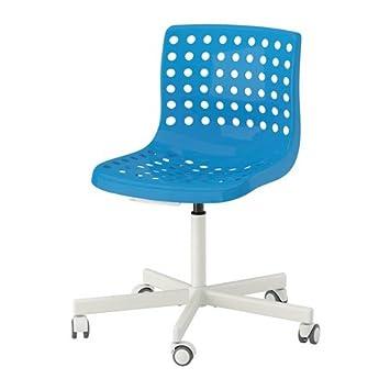 Ikea skalberg/sporren - Silla de Oficina giratoria, Color Azul, Color Blanco: Amazon.es: Hogar