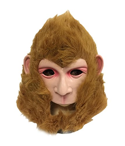 DylunSky New Halloween Monkey King Latex Mask Journey to The West Monkey King's Clothes (Latex Mask) -