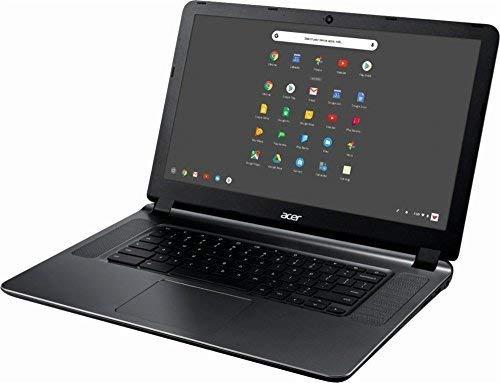 Acer 15.6in HD High Performance Student Chromebook-Intel Dual-Core Celeron N3060 Processor, 4GB RAM, 16GB SSD, Intel HD Graphics, HDMI, WiFi, Bluetooth, Chrome OS-(Renewed) (4GB)
