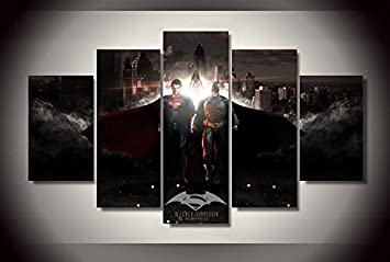 amazon com batman vs superman movie canvas print decor in 5 pieces