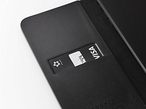 [iPhone 7 Plus Case], SQUAIR - Calf Leather Case for iPhone7 Plus - Book Type (Black) (Black) by SQUAIR (Image #1)