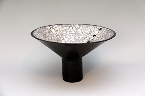A Tall Footed Naked Raku Bowl #35