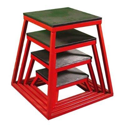 Plyometric Platform Box Set- 6'', 12'', 18'', 24'' Red by Ader Sporting Goods